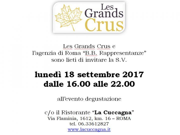 Evento degustazione Les Grands Crus a Roma